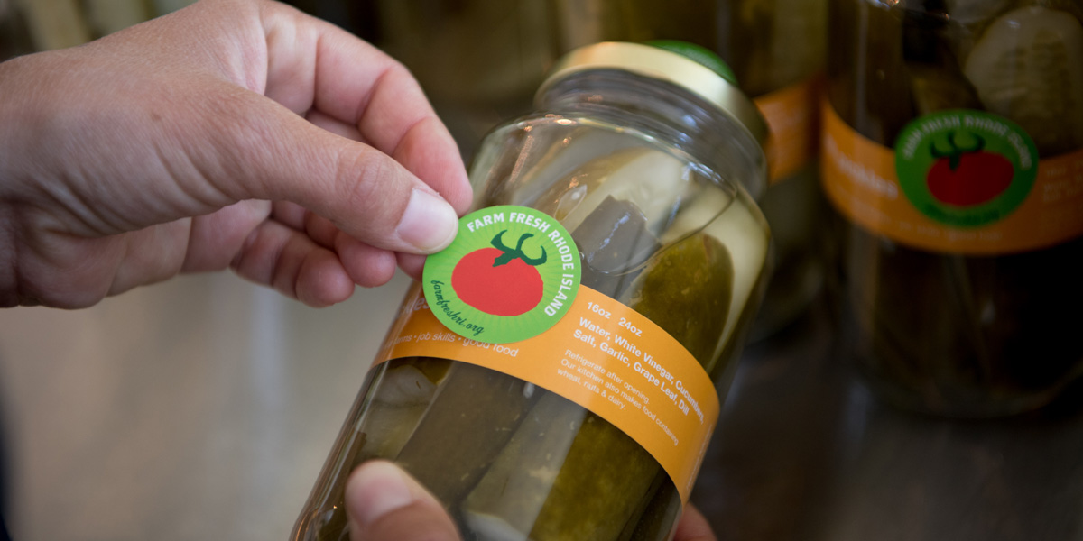 Photo of pickles from Harvest Kitchen