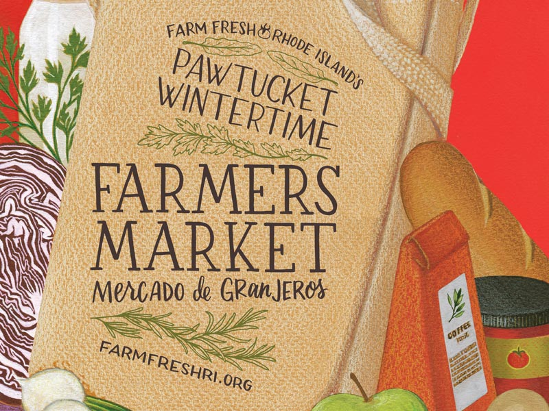 Poster advertising Pawtucket Wintertime Farms Market