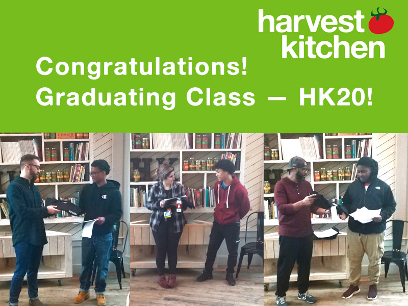 Congratulations Harvest Kitchen Class Hk20