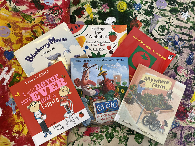 Image of Great Farm to School Story Books on colorful banner