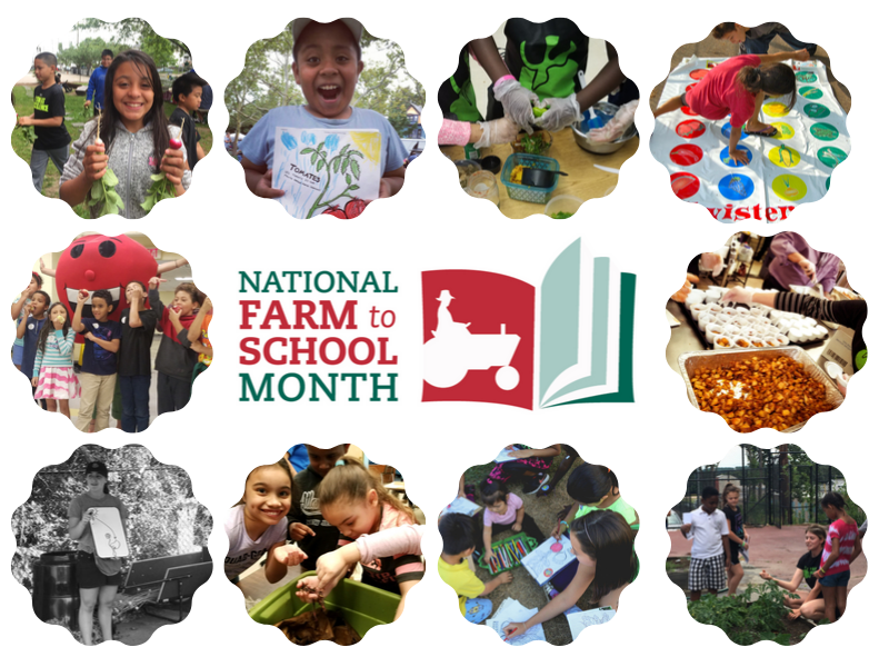 Collage of RI Farm to School Activities for National Farm to School Month